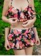画像14: 花柄シフォンスカート 3点セット盛れる水着 (14)