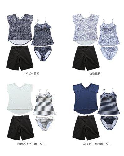 画像3: Tシャツとサーフパンツとボーダータンキニトプッスとショーツと水着4点セット