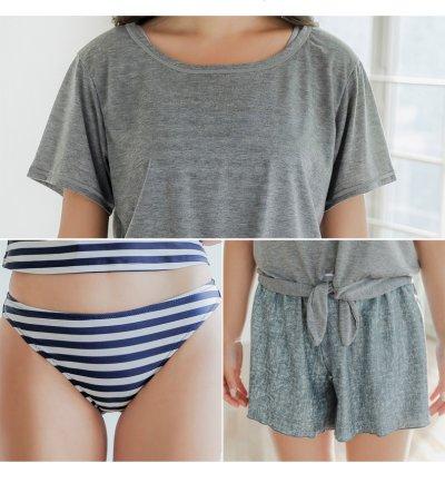 画像3: Tシャツとサーフパンツとタンキニトップスとショーツとカバーアップ4点セット水着