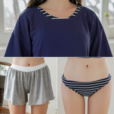 画像3: Tシャツとショットパンツとタンキニトップスとショーツ4点セット水着